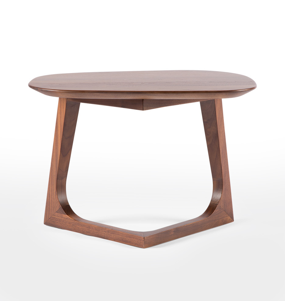 Coffee And Side Tables Chevron Walnut Side Table