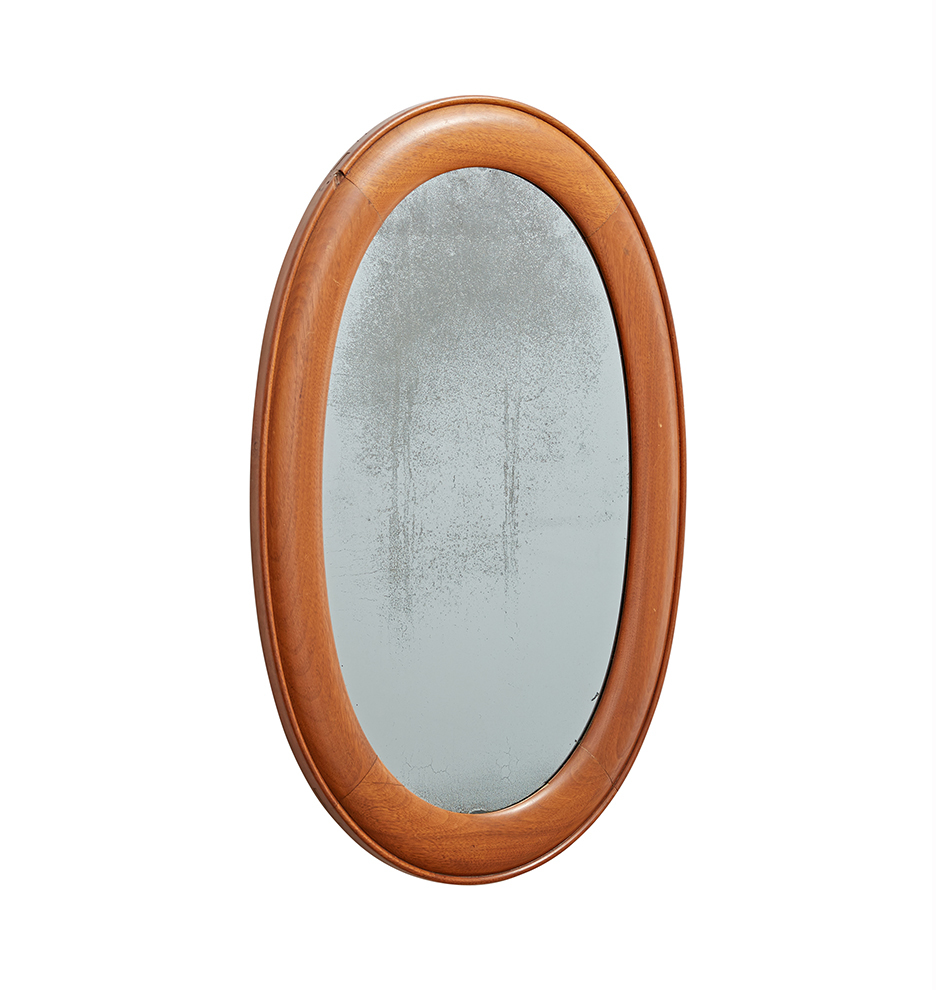 Oval Mirror Wood Frame Oval Mirror W Wooden Frame