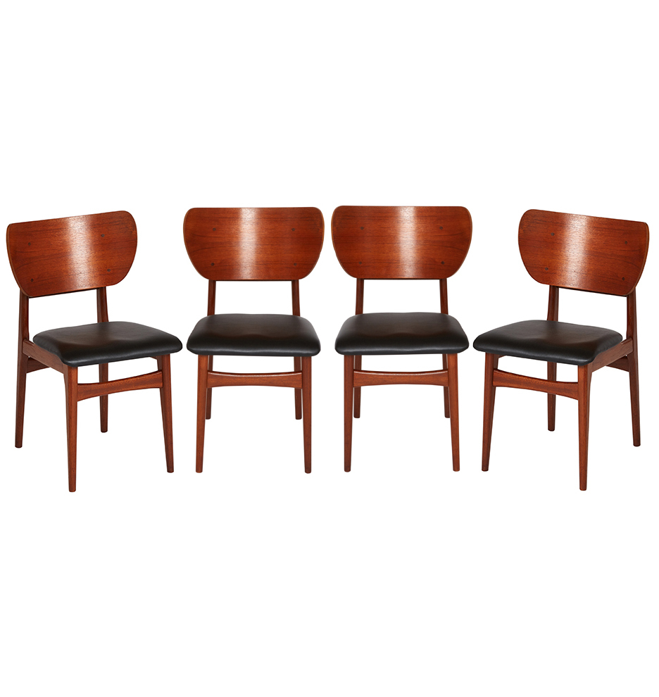Danish Modern Dining Chairs For Sale Set Of 4 Danish Modern Teak Dining Chairs