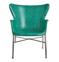 Pair of Incredible Wingback Fiberglass Chairs by Selig ...