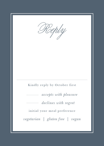Wedding RSVP Cards Match Your Color  Style Free! - Basic Invite