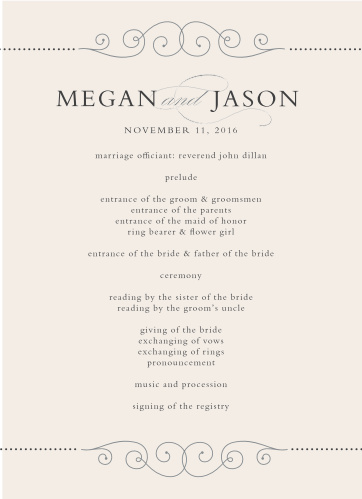 Wedding Programs Match Your Colors  Style Free! - Basic Invite