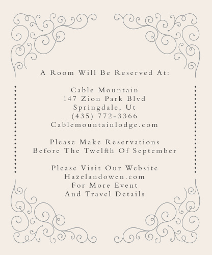 Swirl Frame Save-the-Date Cards