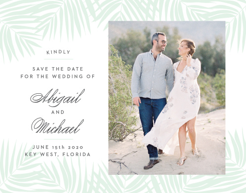 Beach Save The Dates - Match Your Color  Style Free!