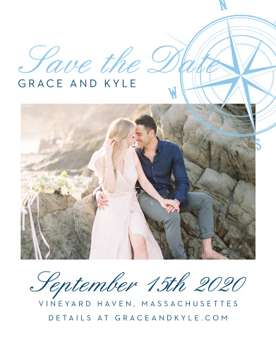 Nautical Save The Dates - Match Your Color  Style Free!