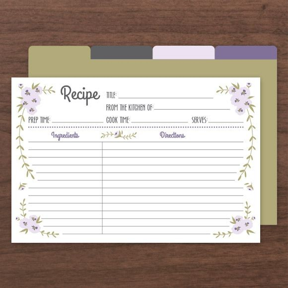 Rustic Recipe Cards by Basic Invite