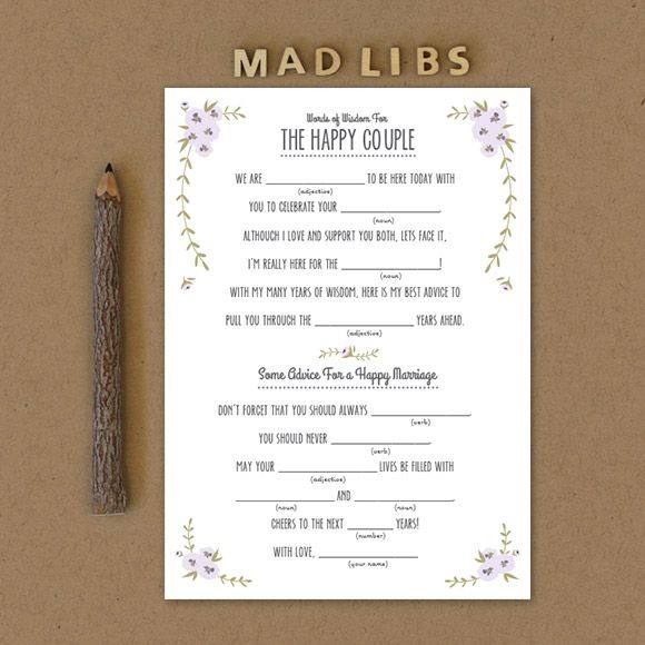 Rustic Mad Libs Printable by Basic Invite