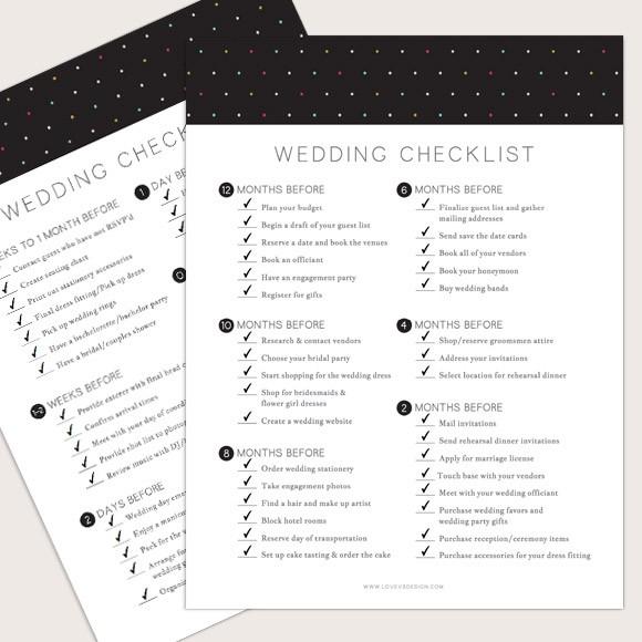 Wedding Checklist Printable by Basic Invite