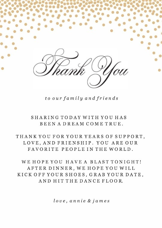 Gold Confetti Thank You Cards Printable by Basic Invite