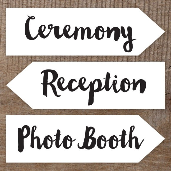 Wedding Signs Printables and DIY Templates of Signs
