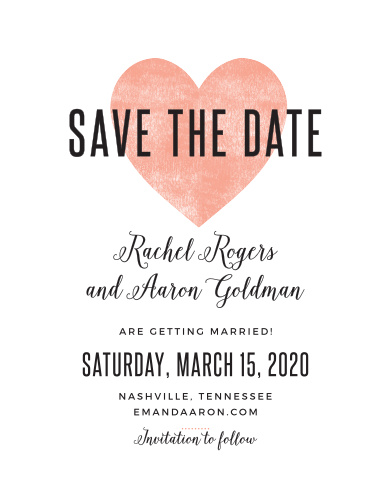 Save The Date Magnets Match Your Colors  Style Free! - Basic Invite