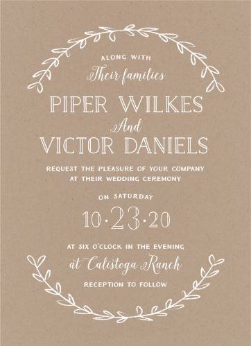 Rustic Wedding Invitations - Match Your Color  Style Free! - rustic wedding invitation