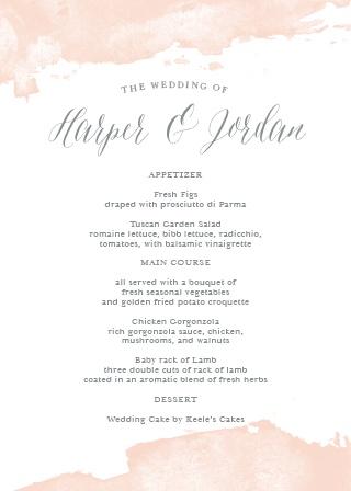 Wedding Menus Design Your Menu Instantly Online! - Basic Invite