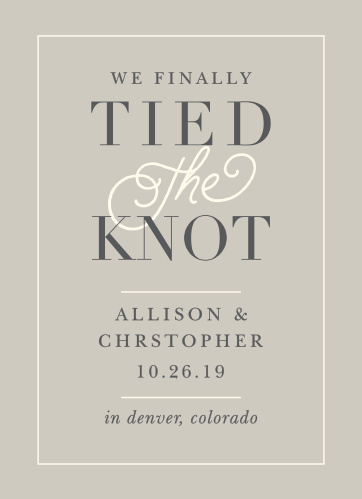 Wedding Announcements Just Married Designs by Basic Invite - photo announcements