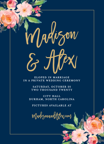 Wedding Announcements Just Married Designs by Basic Invite