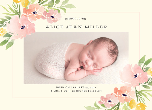 Birth Announcements 40 Off Super Cute Designs - Basic Invite - Baby Girl Birth Announcements