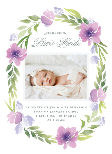 Baby Girl Birth Announcements Photo and No Photo Announcements - Baby Girl Birth Announcements