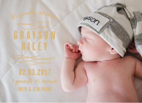 Baby Boy Birth Announcements Photo and No Photo Announcements