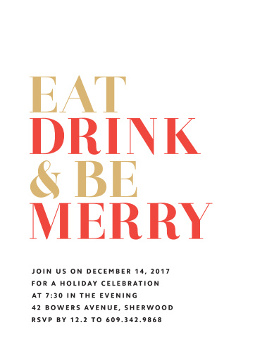 Holiday Party Invitations Match Your Color  Style Free! - Basic - holiday celebration invitations