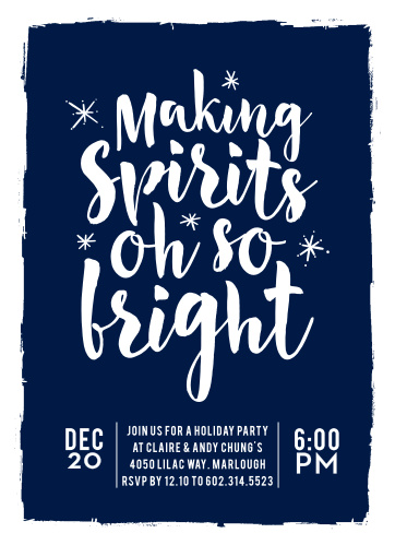 Holiday Party Invitations Match Your Color  Style Free! - Basic - holiday party invitation