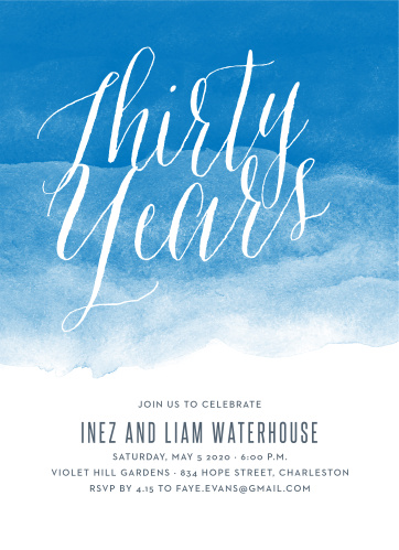 Anniversary Invitations Match Your Color  Style Free! - Basic Invite
