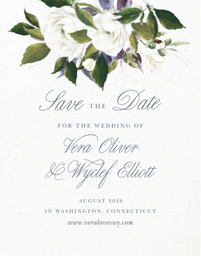 No Photo Save the Date Cards Match Your Color  Style Free - free wedding save the dates