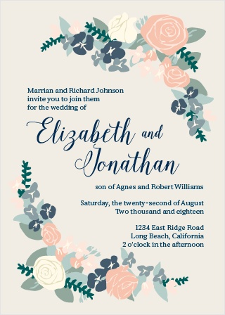Christian Wedding Invitations - Match Your Color  Style Free!
