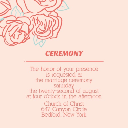 The Rose Outline Wedding Invitations by Basic Invite