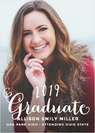 2018 Graduation Announcements  Invitations For High School and College - photo announcements