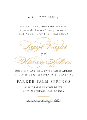 Formal Wedding Invitations - Match Your Color  Style Free! - Formal Invitation