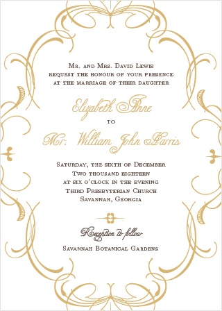 Wedding Invitations Match Your Color  Style Free! - Formal Invitation