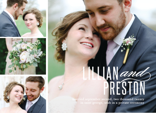 Wedding Announcements Cards - Match Your Color  Style Free!