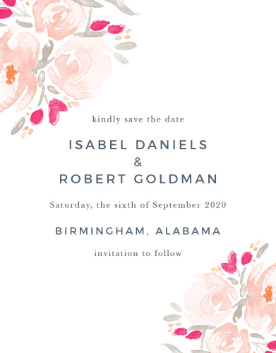 Save The Date Cards Match Your Colors  Style Free! - Basic Invite