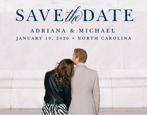 Royal Scrolls Save-the-Date Cards - save date postcard