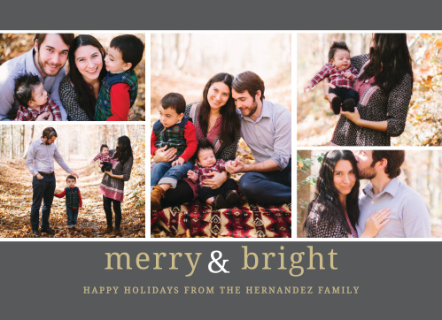 Foil Stamped Holiday  Christmas Cards Gold  Silver Basic Invite