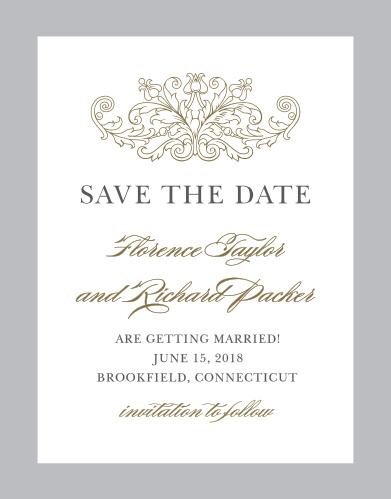 Save The Date Postcards Match Your Colors  Style Free! - Basic Invite
