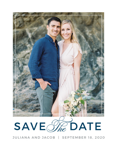 Save The Date Postcards Match Your Colors  Style Free! - Basic Invite - save date postcard