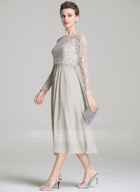 A-Line/Princess Sweetheart Tea-Length Chiffon Mother of ...