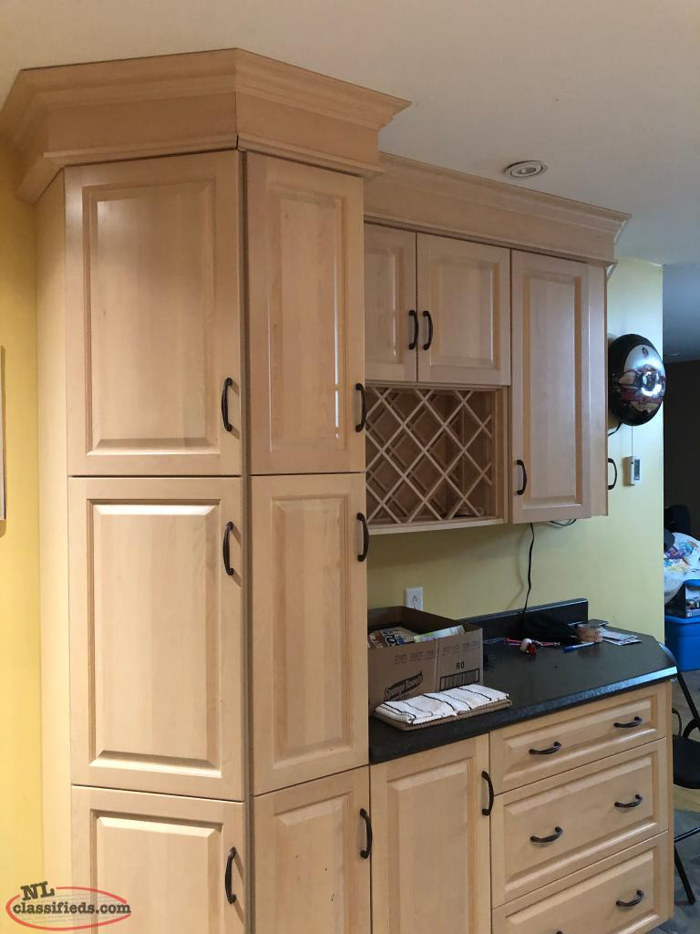 Wine Racks In Kitchen Cabinets Kitchen Cabinets With Wine Rack St John S Newfoundland Labrador