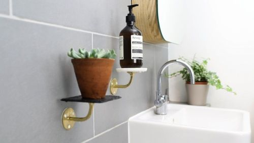 Medium Of Wall Bathroom Shelves