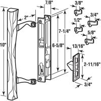 NEW Sliding Glass Door Keyed Internal Hook Latch Lock ...