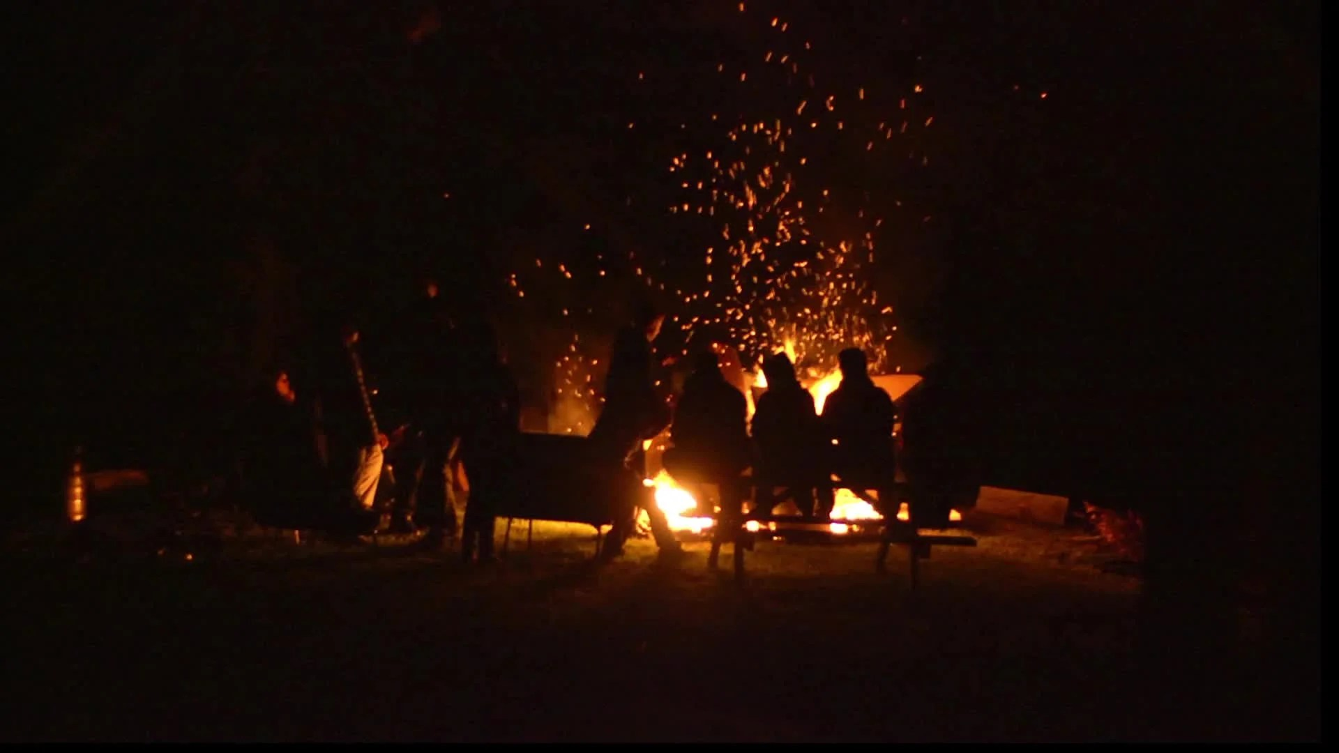 Audio Car Wallpaper Download Very Large Campfire With People Stock Video 12097070 Hd