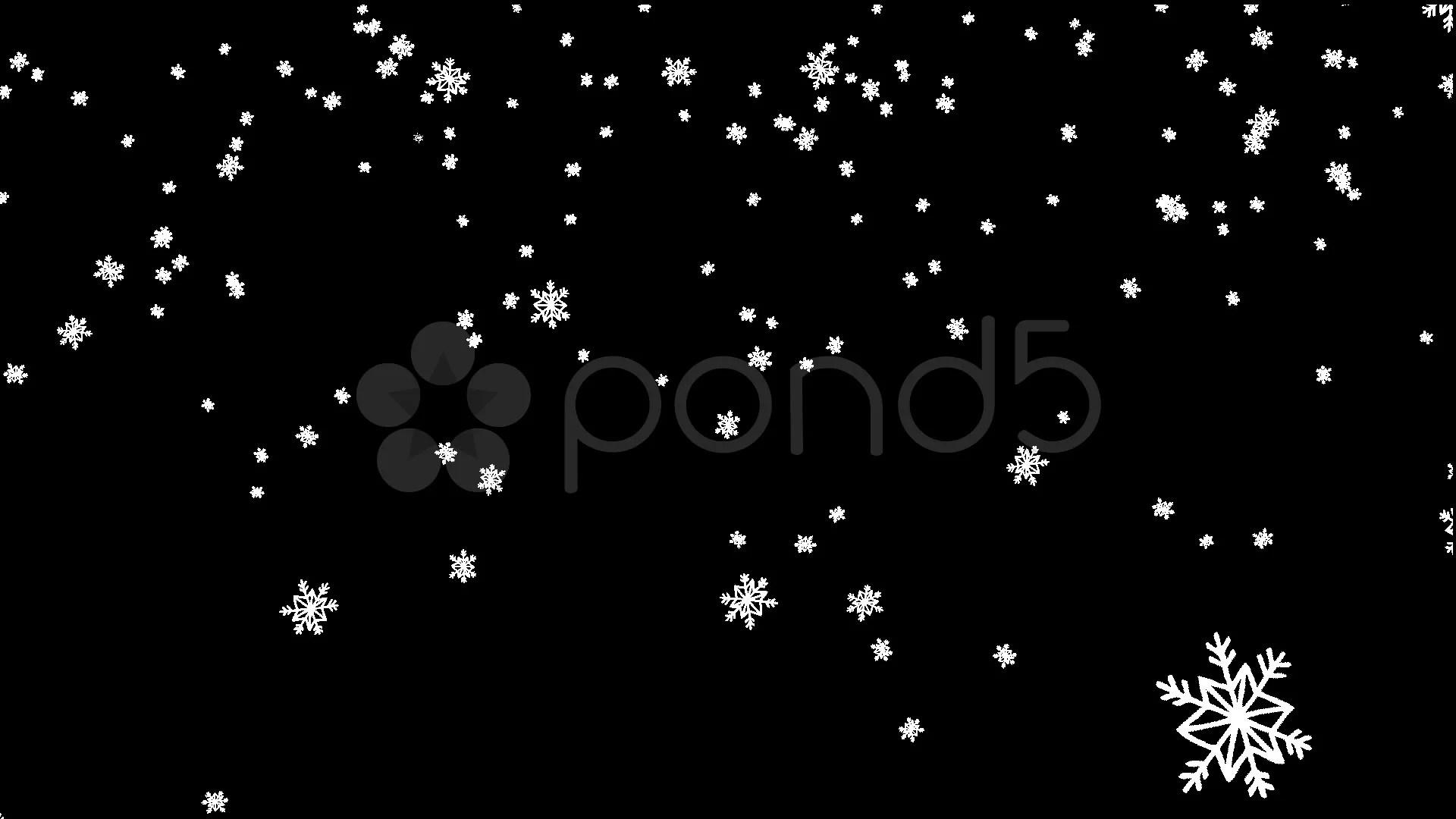 Snow Falling Wallpaper Download Cartoon Snowflakes Falling Big Stock Footage 12555468