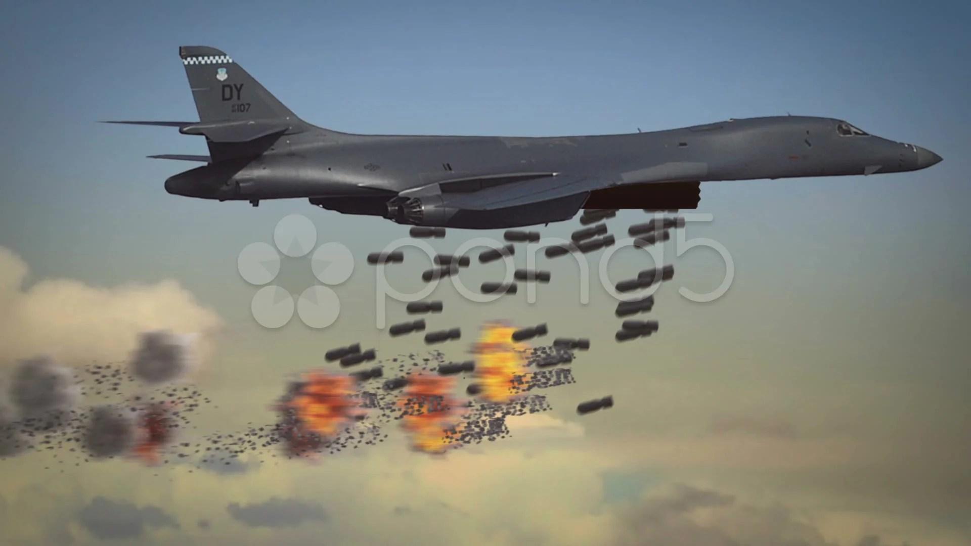 Black Desert Hd Wallpaper B1 Bomber In A Cluster Bomb Attack Against A Tank Column