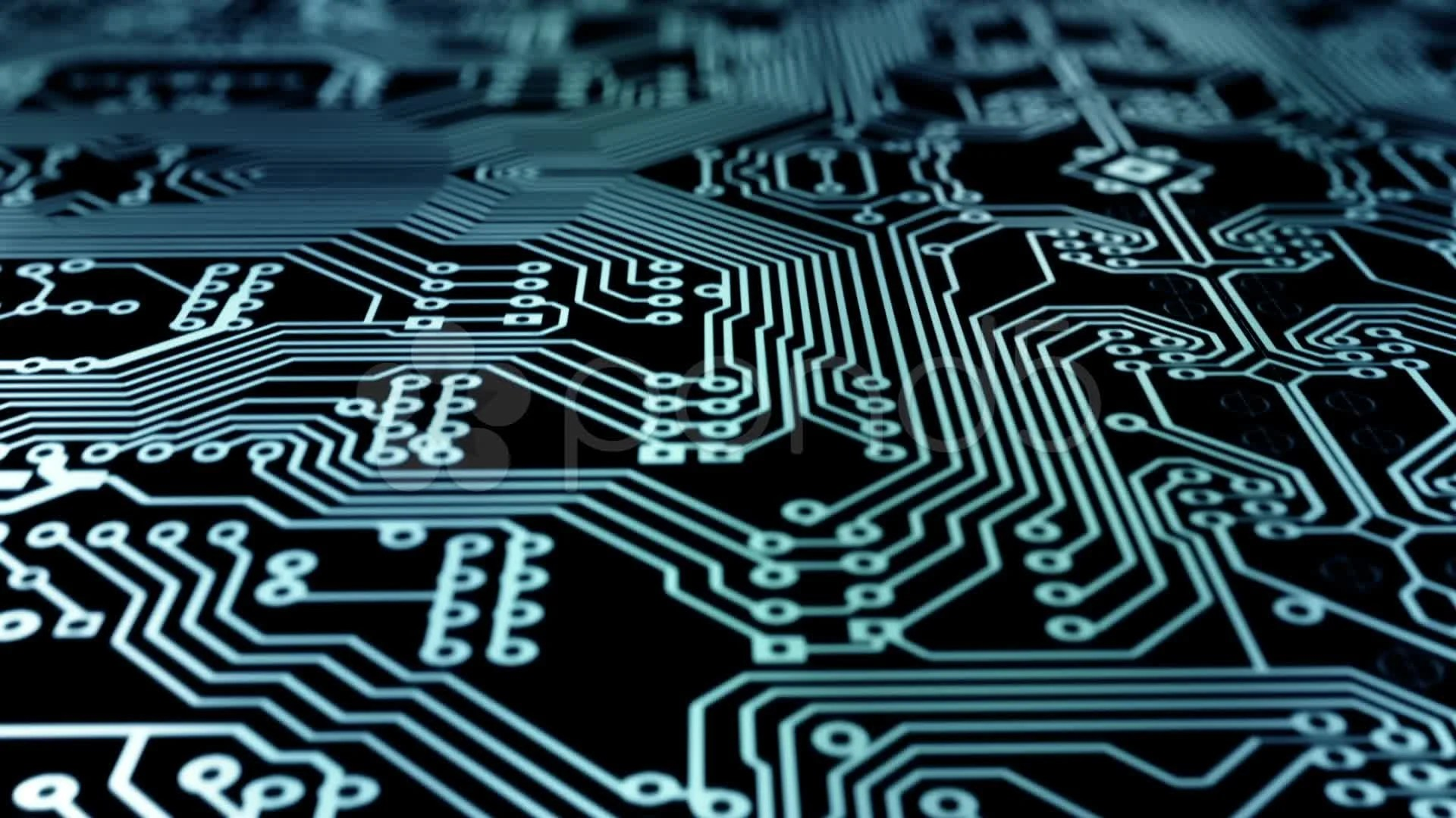 3d Server Wallpaper Pcb Background Loopable Animation Stock Video 21518090