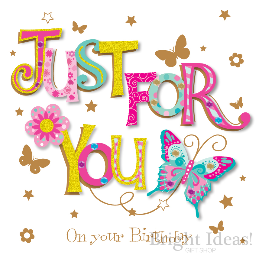 Just For You Words Birthday Card by Ling Design (MWE30064)