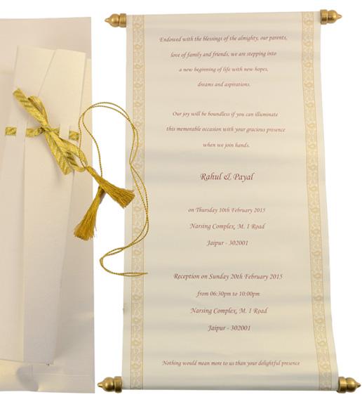 Scroll Invitations, Bat  Bar Mitzvah Invitations, Wedding