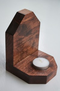 Wooden Candle Holder on Storenvy