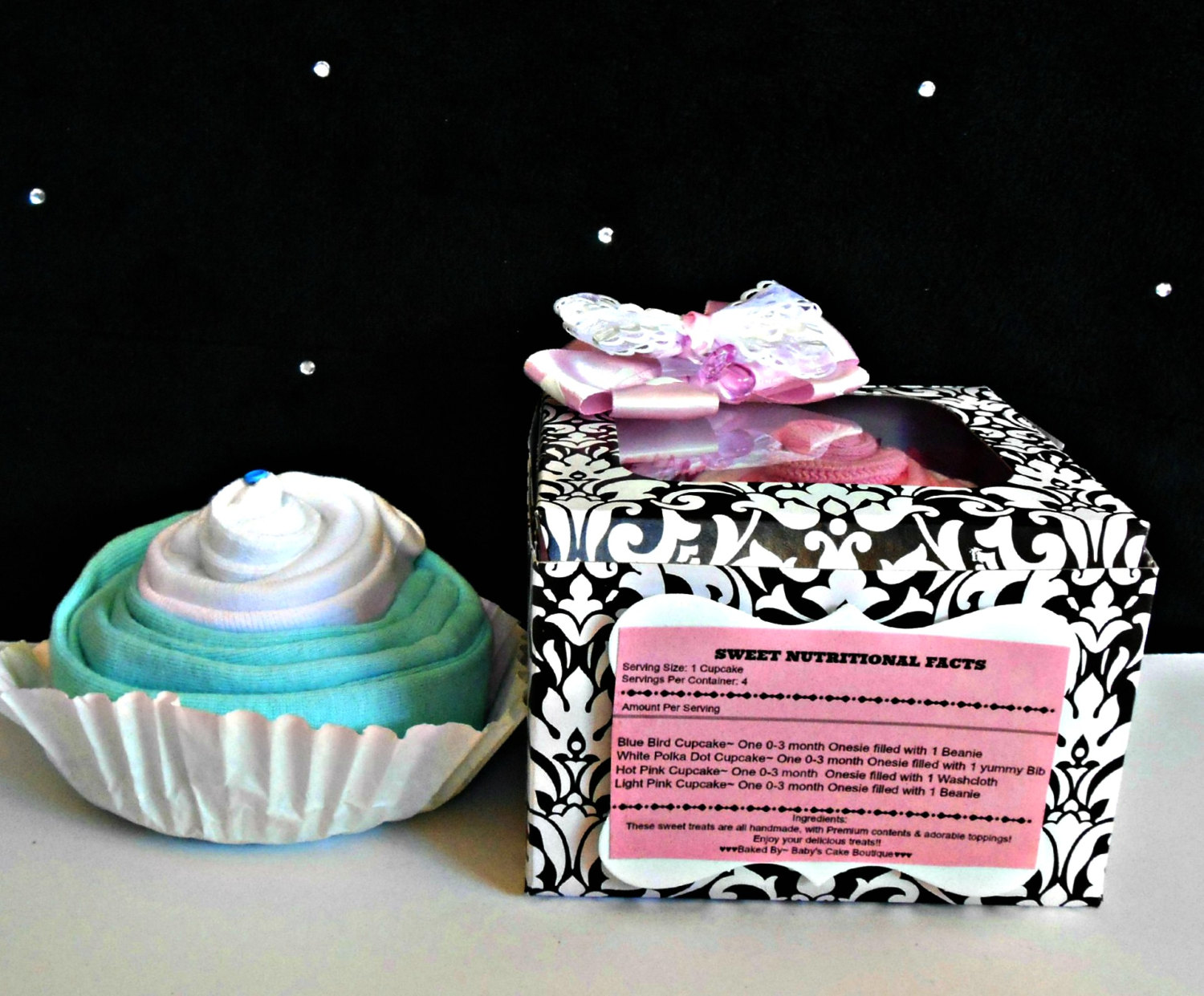 Décoration De Cupcake Baby Girl Shower Gift Parent Gift Baby Shower Decoration Cupcake Box Cupcake Baby Gift Baby Girl Cupcake Onesie From Baby S Cake Boutique