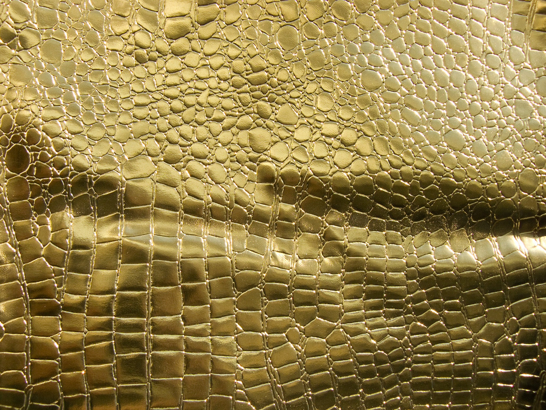 Iphone 7 Fish Wallpaper Hd Gold Metallic Aligator Crocodile Texture Vinyl Fabric On
